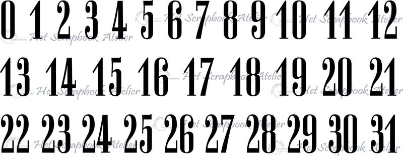 HP Stempel 38f Cijfers 0-31