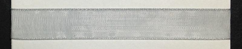 Organza lint col.099 grijs 10 mm x 1m, zonder bies