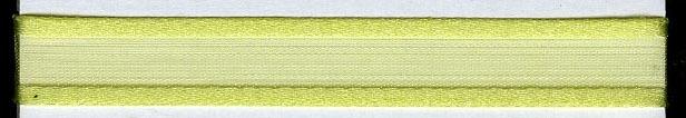 Organza lint col.L27 hard geel/groen 10mm x 1m