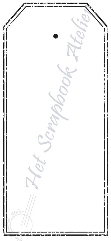 HP Stempel 51j, tag dubbele lijn oud, medium