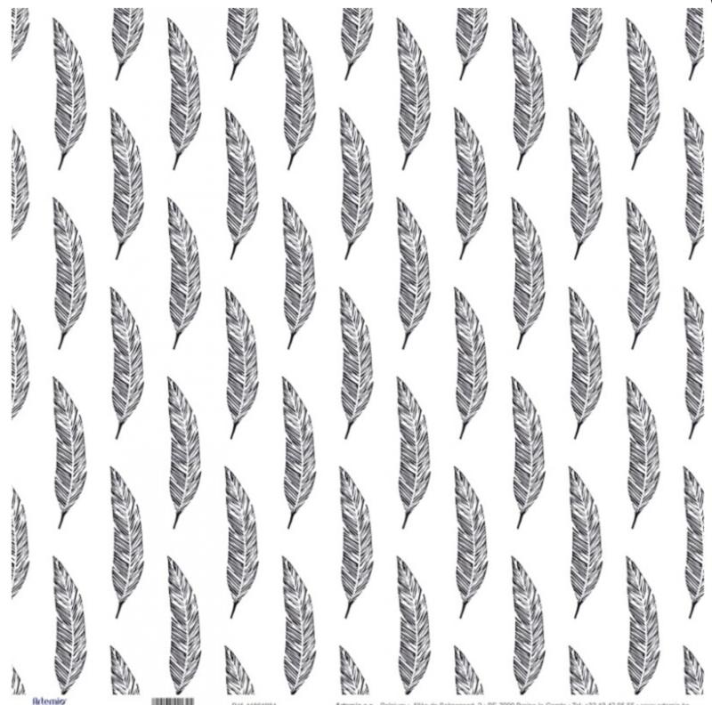 Zwart/ Wit lijn Artemio* Veertjes