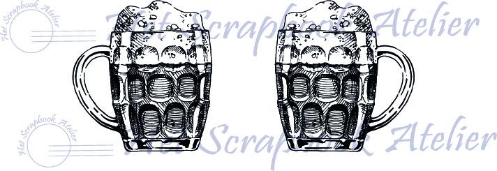 HP stempel 115b, set bierglazen klein, 1,8 cm hoog