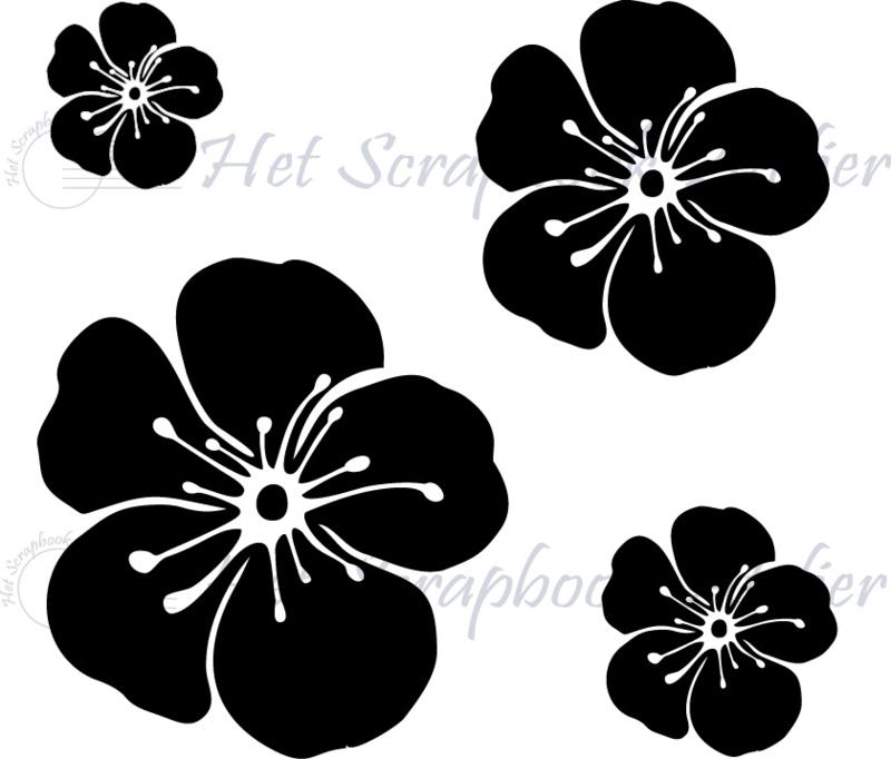 HP Stempel 86a, set 4 bloemen bold