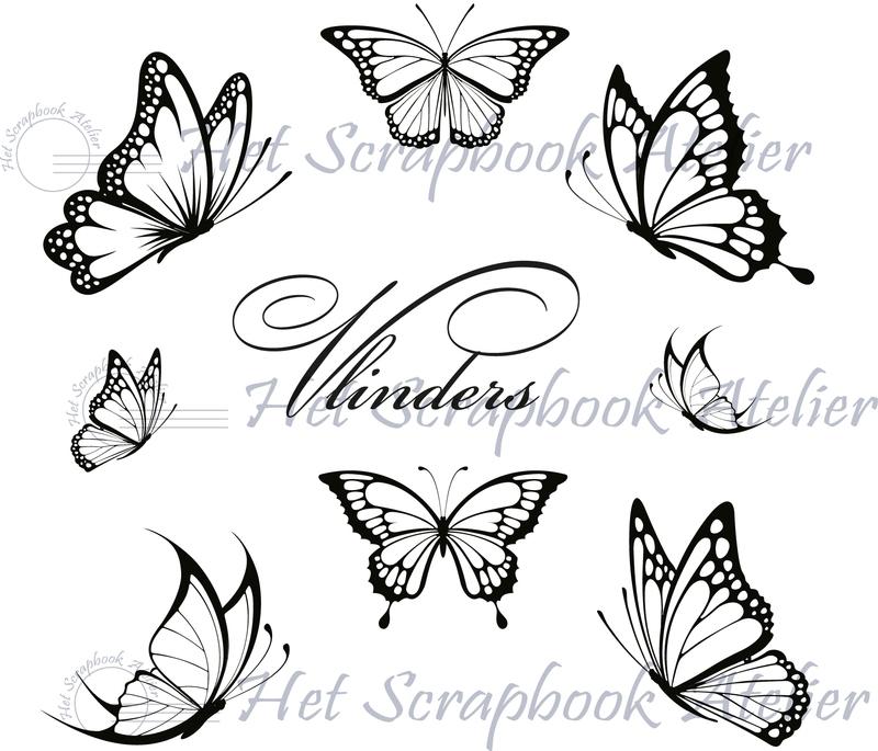 HP Stempel 6e, Set 8 vlinders
