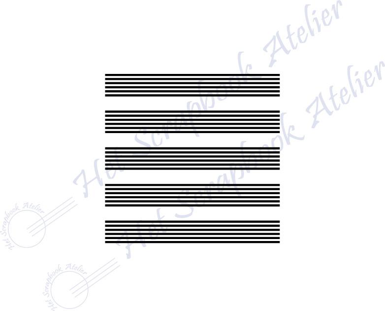 HP Stempel 118a2, vierkantje 3x3 cm: 30 dunne lijntjes