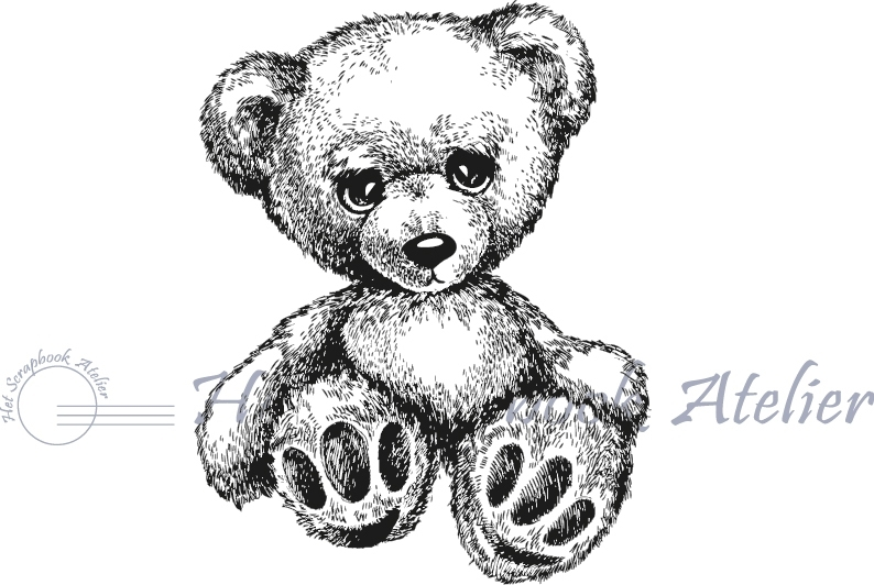 HP Stempel 12e Teddybeer