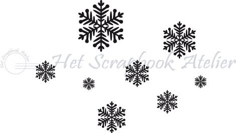 Hp Stempel 44j, Sneeuwvlokjes mini background