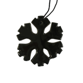 Aardewerk hanger sneeuwvlok zwart