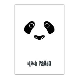 Black Panda A3 poster