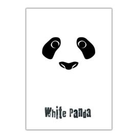 White Panda A3 poster