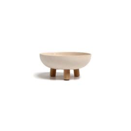 schaal 17 cm met houten pootjes