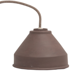 Lamp met kap, porselein fitting, snoer ca 2.5mtr