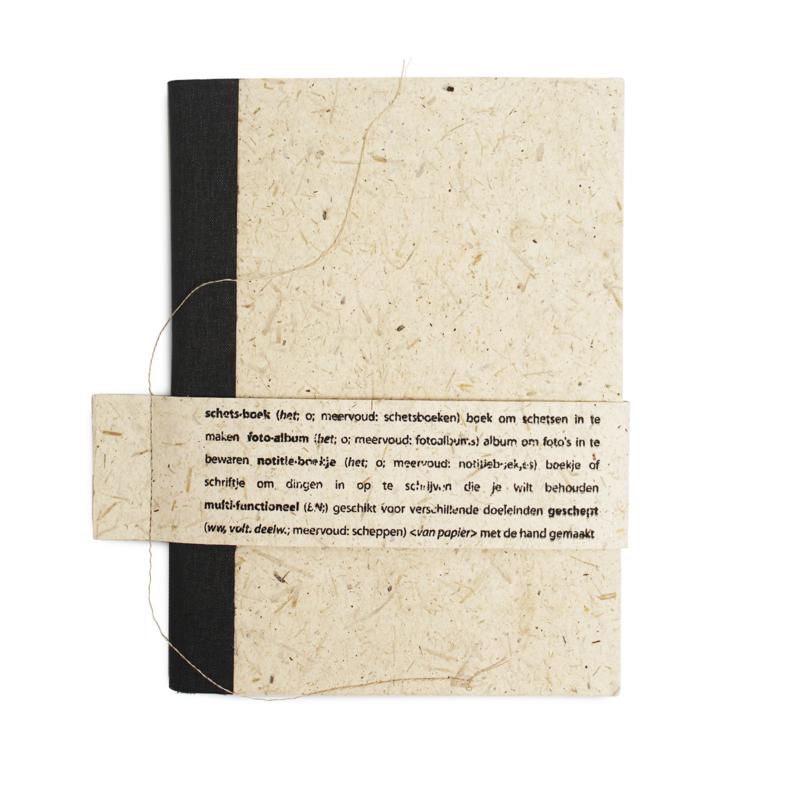 Boekje A5 Olifantenpoep papier