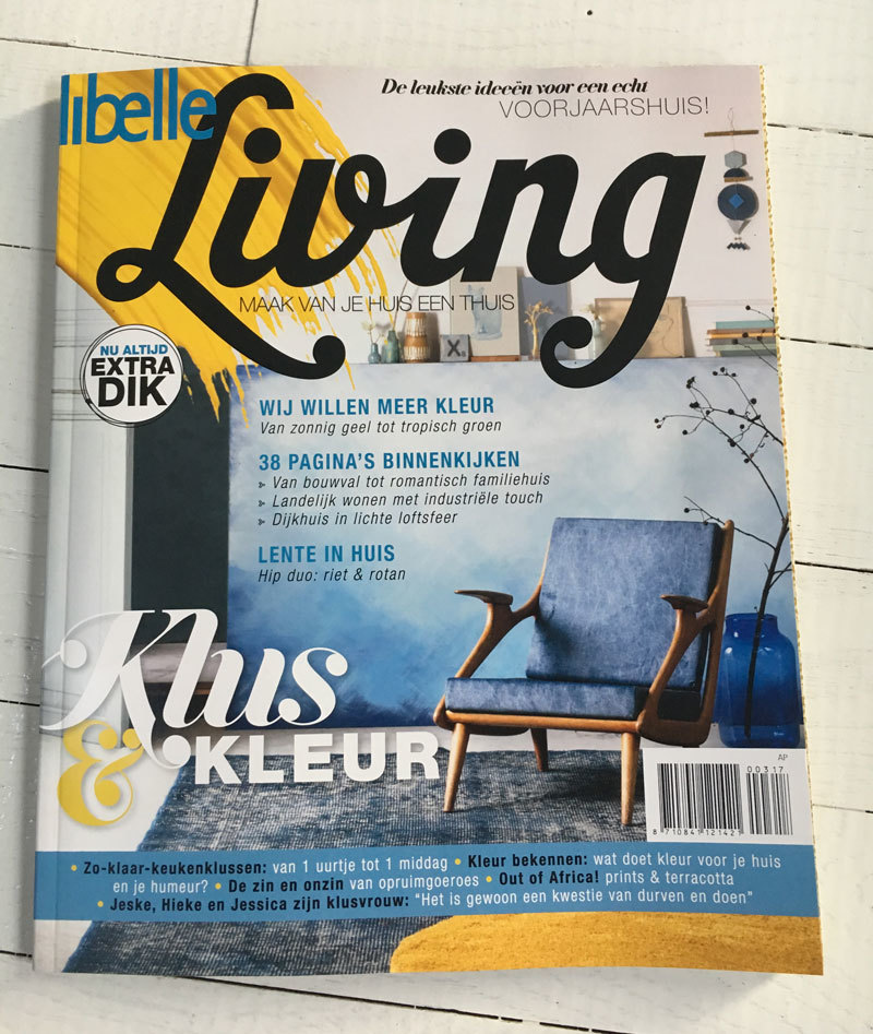 Libelle Living maart-april 2017 - NADesign poster Ree