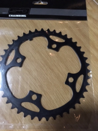SD, SuperDuper BMX Race Voorblad, Zwart, 42T, 4 gats, Gloednieuw