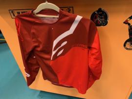 ALPINESTARS BMX Wedstrijd Shirt, Youth Large, Rood/Rood, Gloednieuw