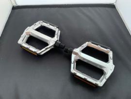 VWP Aluminium Flatbed pedaalset, Zilver, Gloednieuw