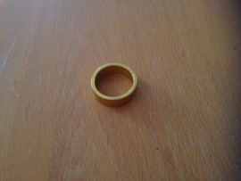 Headset Spacer Goud geanodiseerd, 10mm