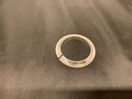 Headset Ring  Onderste lagering voor 1 1/8 inch, Zilver, Nieuw