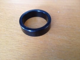 Headset Spacer Zwart geanodiseerd, 10mm