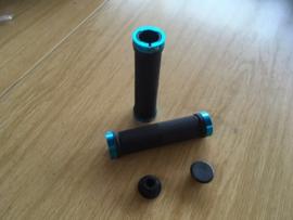 LOCK-ON Handvattensets, Zwart/Blauw,  ATB, BMX, Gloednieuw