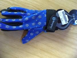 ALMIGHTY CASUAL BMX Race Handschoenen, Blauw/Zwart, Youth M, Gloednieuw