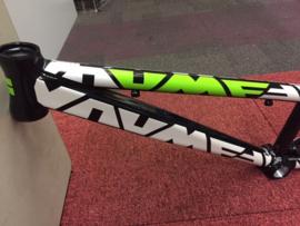 UMF BRAD PRO BMX Race of Baan Frame, Zwart/Wit/Groen, Gloednieuw
