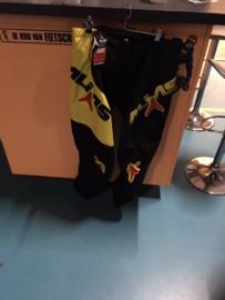 Alias B1 BMX Broek, maat Adult 36, Zwart/Geel, Gloednieuw