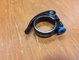 CUBE ATB Zadelpenklem, Zwart/Blauw, 34,9mm, Gloednieuw