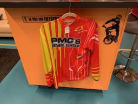 JOPA TECHNO BMX Cross Shirt, Rood/Geel, Mt 164 , MX, DH, Quad, Nieuw