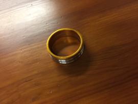 Headset Spacer, 10mm, Goud/Zilver geanodiseerd, Gloednieuw