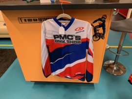 JOPA TECHNO  BMX Race Shirt, Rood/Wit/Blauw, Youth Large, Gloednieuw