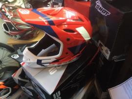 EVOLVE BMX Race Full Face Integraal Helm, Zwart/Grijs, Gloednieuw