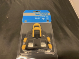 SHIMANO SM-SH11 SPD-SL RACE Schoenclips Geel/Zwart met schroefjes etc. Nieuw in verpakking