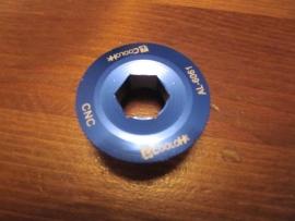 Crankschroef voor Hollowtech II cranksets, Blauw Geanodiseerd