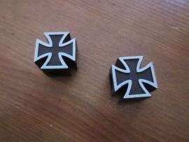 Wieldopjes ijzeren Kruis, zwart/grijs