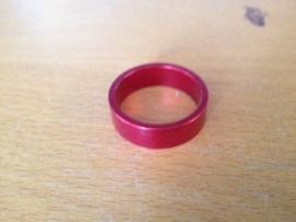 Headset Spacer Rood geanodiseerd, 10mm
