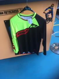 KENNY PERFORMANCE Small BMX Wedstrijd Shirt, Fluo-Geel/Zwart/Rood, Gloednieuw