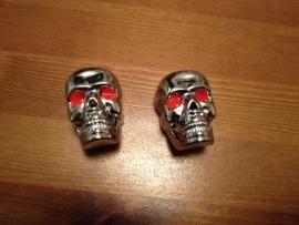 Skulls voor aan het stuur