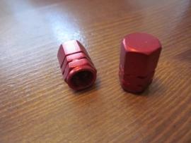 Ventieldopjes Rood geanodiseerd, AV, 2 stuks