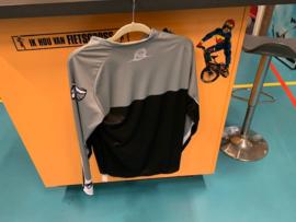 ZULU BMX Shirt, Adult XS, Zwart/Grijs/Wit, Gloednieuw