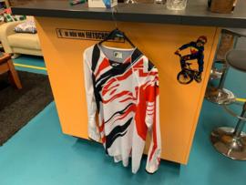 ALPINESTARS BMX Cross Shirt, Wit/Rood/Zwart, Adult XL, MX, DH, Quad, Nieuw