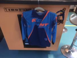 KENNY BMX Wedstrijd Shirt, Adult Small, Blauw/Oranje, Gloednieuw