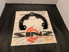 SINZ, BMX Race Voorblad, Zwart, 41T, 5 gats, Gloednieuw
