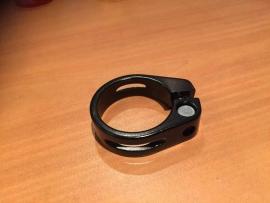 Wake ATB Zadelpenklem Zwart Geanodiseerd, 31.8mm