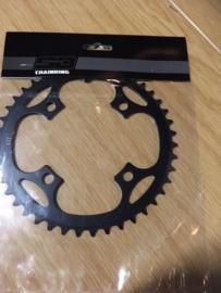 SD, SuperDuper BMX Race Voorblad, Zwart, 43T, 4 gats, Gloednieuw