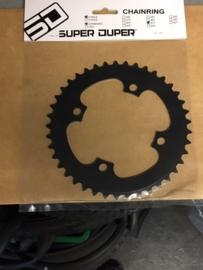 SD, SUPERDUPER 40T BMX Voortandwiel, Zwart, Gloednieuw