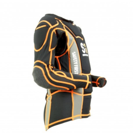 S1 Safety First BMX Body Protector MODEL 2021, Zwart/Oranje/Grijs, Diverse Maten, Gloednieuw