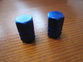 Ventieldopjes Blauw Geanodiseerd, AV, 2 stuks