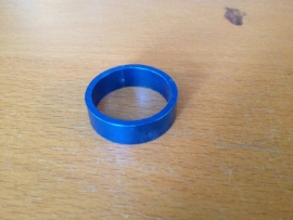 Headset Spacer Blauw geanodiseerd, 10mm